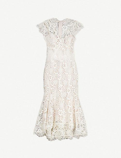 4ae9533e7a3 KAREN MILLEN Flared-hem floral lace dress