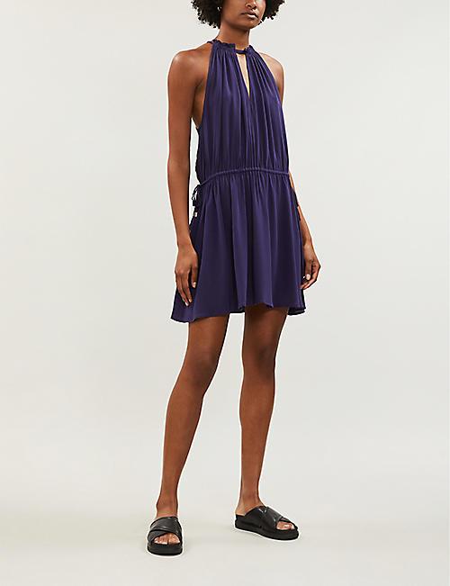 e2271bcdd2 KAREN MILLEN Halter neck crepe midi dress. Quick Shop