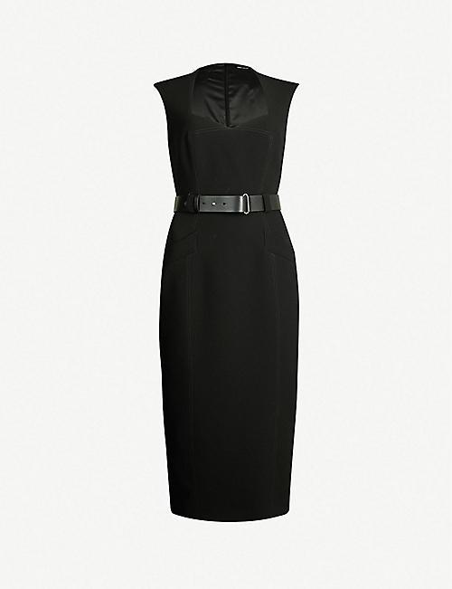 6d1303d375 KAREN MILLEN Sweetheart-neck crepe dress