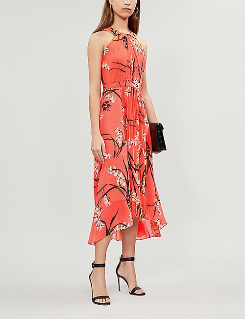 2db821f8c21 KAREN MILLEN Floral-print halterneck chiffon dress