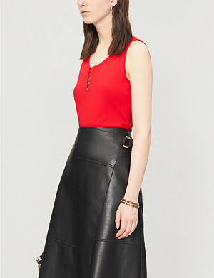 KAREN MILLEN Sassy sleeveless stretch-jersey blouse