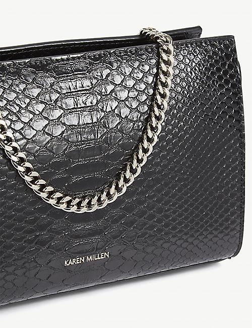 a7ff9d965e1e KAREN MILLEN Croc-effect cross-body bag