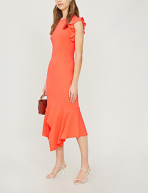 905829dd43b5 KAREN MILLEN Sleeveless fit-and-flare crepe dress