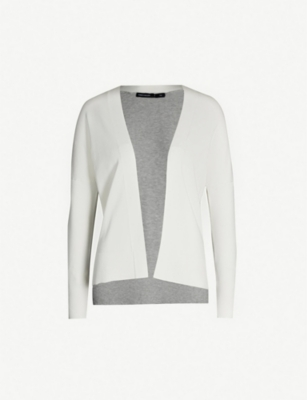 KAREN MILLEN Laced colourblock knitted cardigan