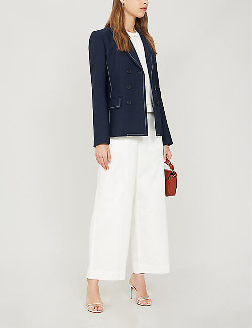 KAREN MILLEN Bianca double-breasted woven jacket