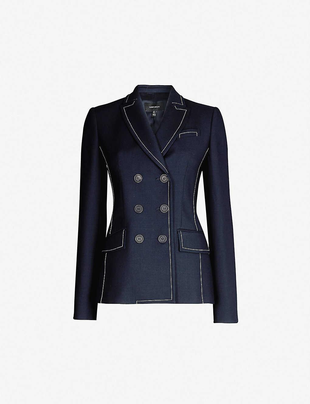 8a935f1c74 KAREN MILLEN - Bianca double-breasted woven jacket   Selfridges.com