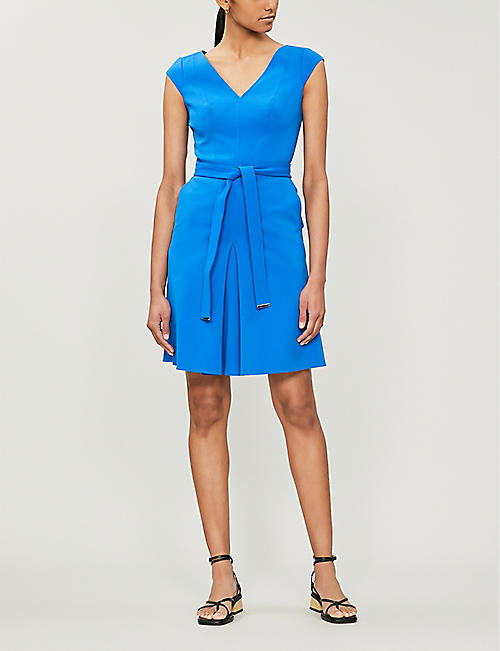 b8397a1f7a0 KAREN MILLEN Waist-tie fit-and-flare crepe dress