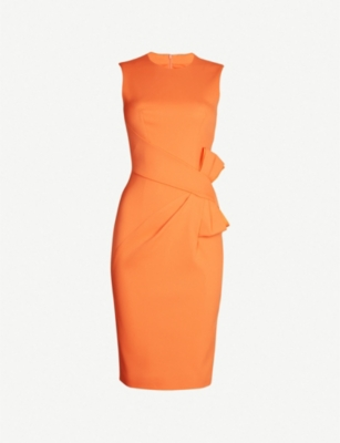 KAREN MILLEN Bow-detail crepe dress