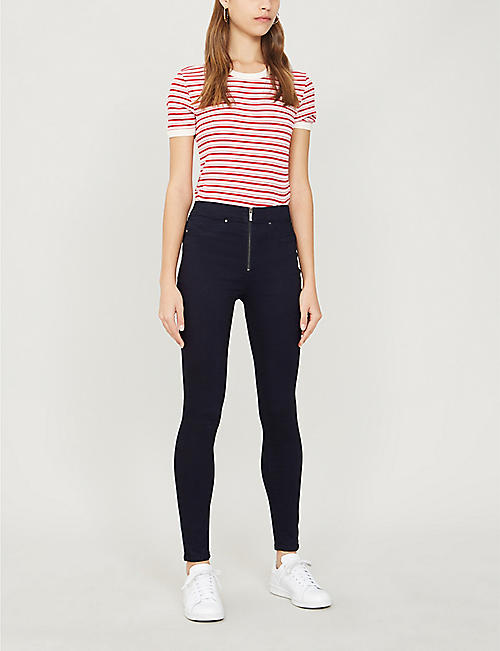 KAREN MILLEN High-rise skinny stretch-denim leggings