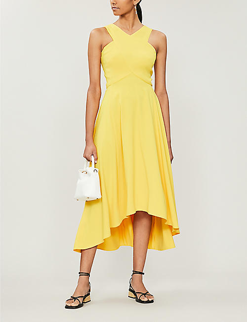 c0e6f00928 KAREN MILLEN Asymmetric-hem crepe dress. Quick Shop