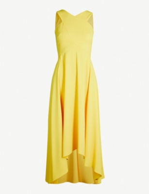 KAREN MILLEN Asymmetric-hem crepe dress