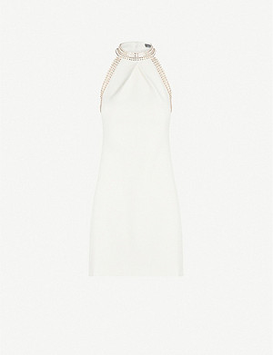 KAREN MILLEN Chain-trim stretch-ponté dress