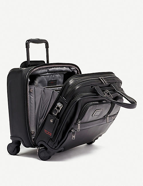 TUMI Deluxe 4 Wheeled leather laptop case