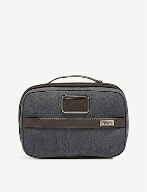 TUMI Split fabric and leather travel kit