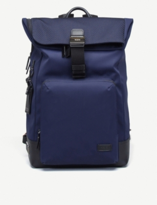 TUMI Oak Roll nylon and leather backpack