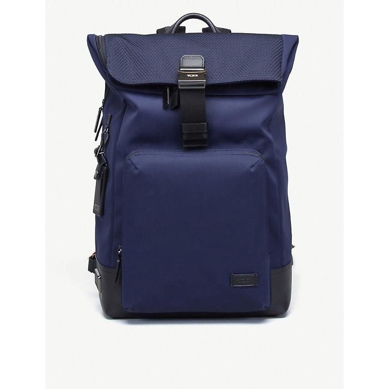 TUMI | Oak Roll Nylon And Leather Backpack | Goxip