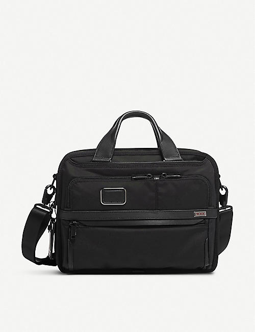 TUMI Alpha 3 Small Screen Expandable Laptop nylon brief bag