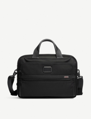 TUMI Alpha 3 Triple Compartment ballistic nylon brief bag
