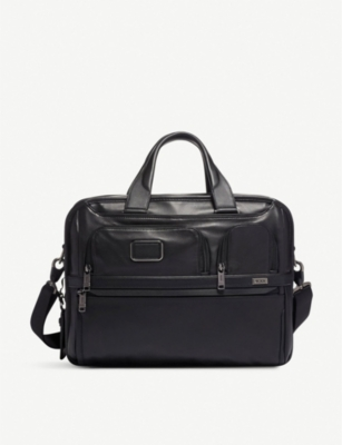 TUMI Expandable Organizer Laptop leather brief bag