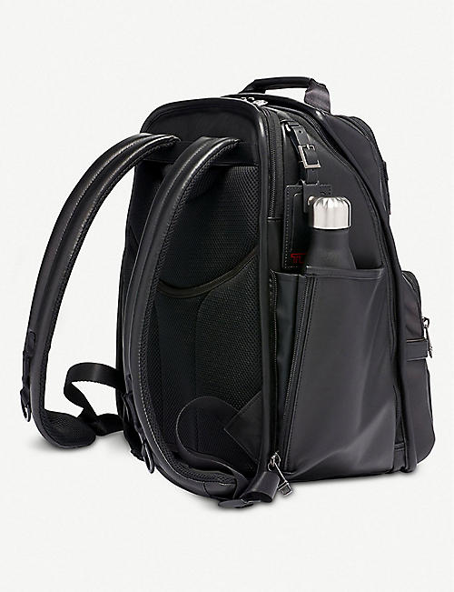 TUMI Compact leather laptop brief backpack