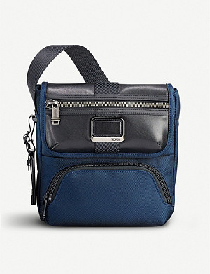 TUMI Alpha Bravo Barton nylon and leather cross-body bag