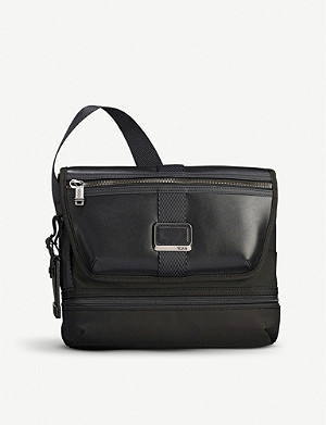 TUMI Alpha Bravo Travis nylon and leather cross-body bag