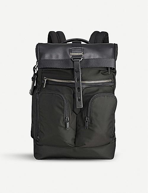 9070db3534604 TUMI Alpha Bravo London roll-top nylon backpack