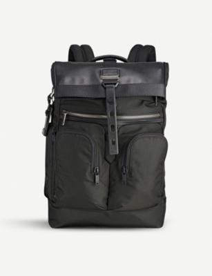 TUMI Alpha Bravo London roll-top nylon backpack