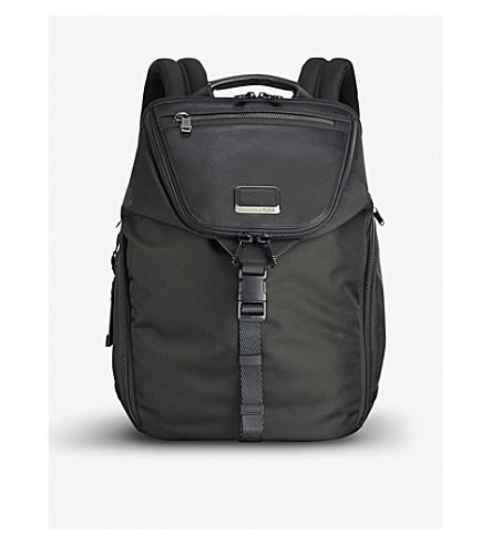 7a48ed4eb99d TUMI Alpha Bravo Willow ballistic nylon and leather backpack (Black