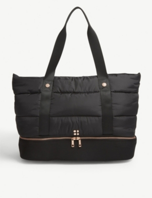 SWEATY BETTY Luxe quilted shell gym bag