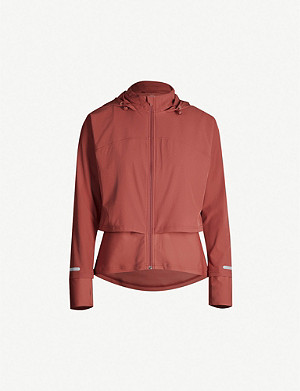 SWEATY BETTY Fast Track Run layered stretch-woven jacket