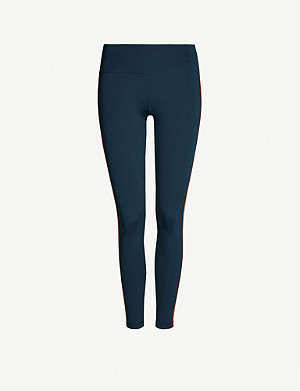 SWEATY BETTY Contour Workout side-stripe stretch-jersey leggings