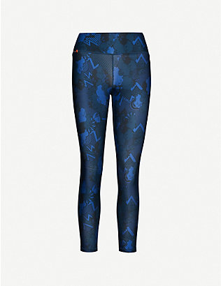 SWEATY BETTY: Contour printed stretch-jersey leggings