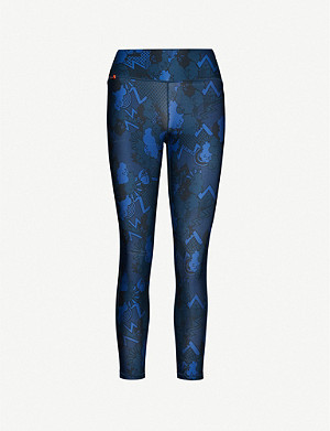 SWEATY BETTY Contour printed stretch-jersey leggings