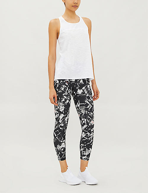 SWEATY BETTY Breeze panelled stretch-woven top