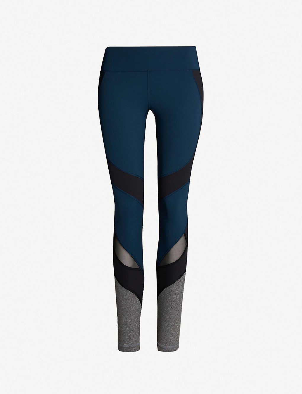 768f1f19bd165b SWEATY BETTY - Power Wetlook stretch-jersey and mesh leggings ...
