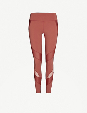 SWEATY BETTY Power Mesh mid-rise panelled stretch-jersey leggings