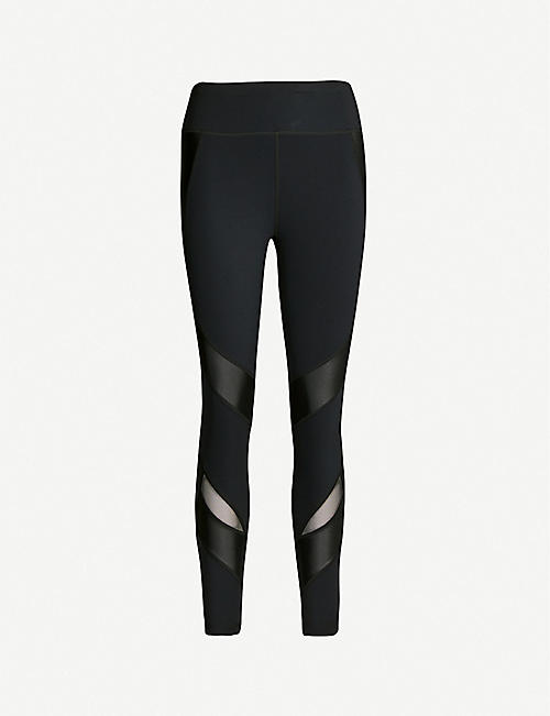 ad67bd838bd85b SWEATY BETTY Power 7/8 wetlook jersey and mesh leggings