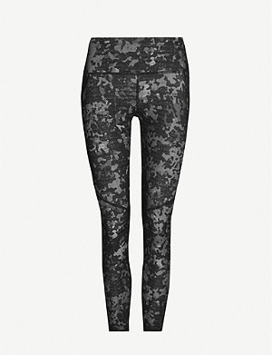 SWEATY BETTY Power 7/8 Workout abstract-pattern stretch-jersey leggings