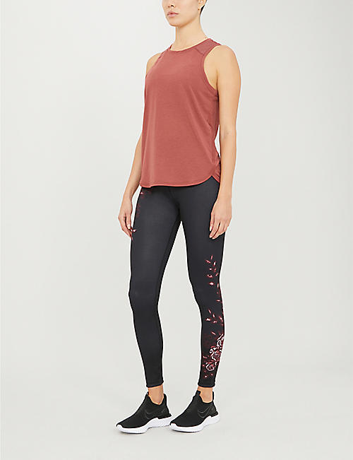 SWEATY BETTY Reversible graphic-print stretch-jersey yoga leggings