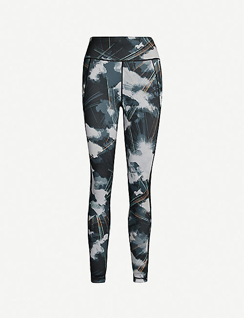 SWEATY BETTY Reversible stretch-jersey yoga leggings