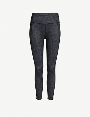 SWEATY BETTY Reversible 7/8 stretch-jersey yoga leggings