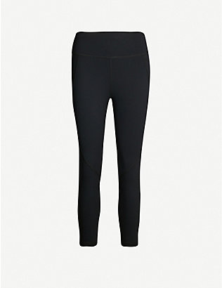 SWEATY BETTY: Power Cropped stretch-jersey leggings