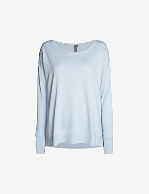 SWEATY BETTY Simhasana cotton-blend sweatshirt
