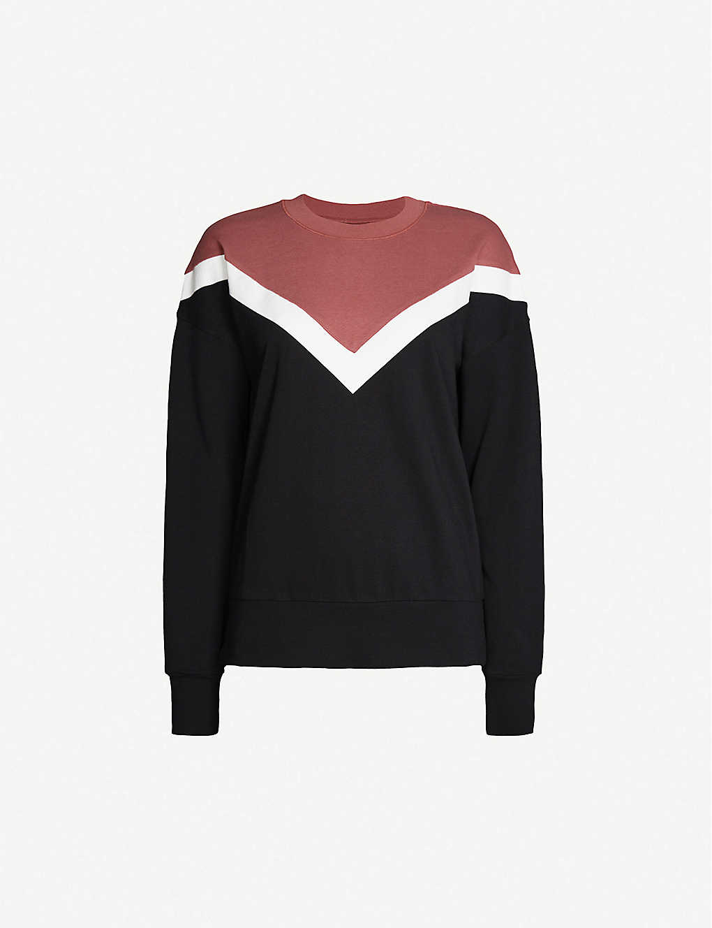 SWEATY BETTY: Colour-blocked cotton and modal-blend sweatshirt