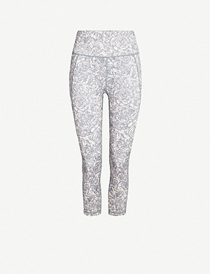 SWEATY BETTY Reversible cropped stretch-jersey leggings