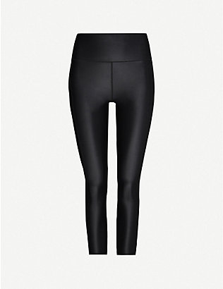 SWEATY BETTY: High Shine fitted cropped stretch-woven leggings