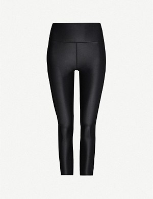 SWEATY BETTY High Shine fitted cropped stretch-woven leggings