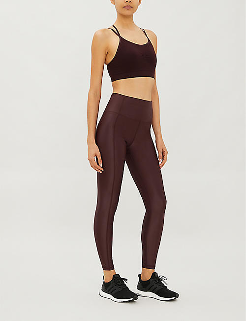 SWEATY BETTY High Shine fitted stretch-woven leggings