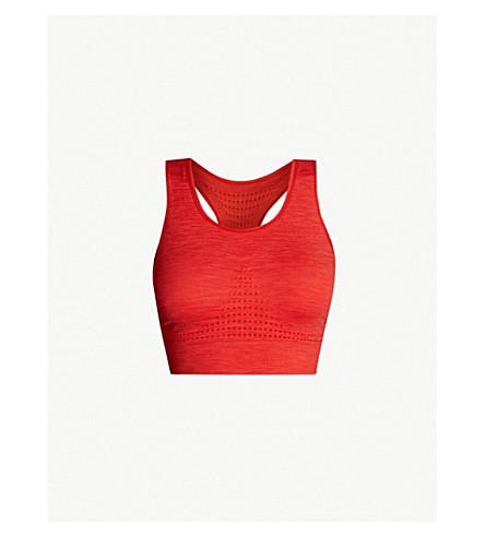 2f238953fe SWEATY BETTY Stamina stretch-jersey sports bra (Tulip+red